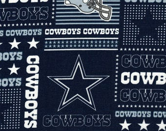 Dallas Cowboys Fabric- NFL - 100% Cotton High Quality Fabric- by Fabric Traditions