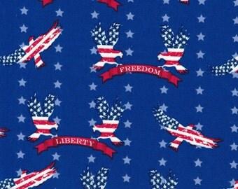 American Flag & Freedom Eagles - Galaxy Fabrics - 100% Cotton Fabric