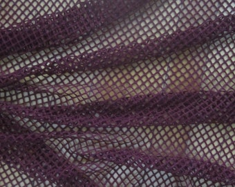 Dark Red stretch Mesh Fabric by the Yard Burgundy Wine Mesh Fish Net 4 Way Stretch Jersey Knit Fabric Clothing Apparel Fashion Mesh Fabric