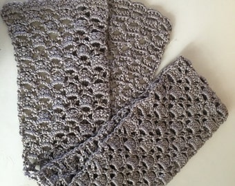 Lacy lattice scarf