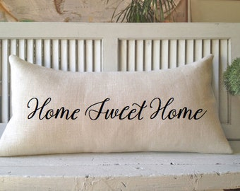 HOME SWEET HOME, Burlap Pillow,Decorating,Novelty,Insert Included