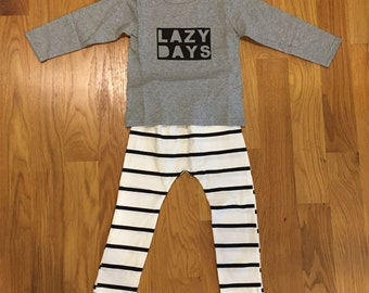 Baby Boys Outfit, Lazy Days Outfit, Boys outfit set, photo prop, boys birthday, Boys Clothing, Clothing for boys, toddler Boys Clothing,