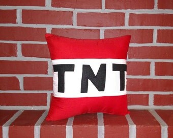 TNT Inspired by Minecraft Pillow