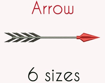 Arrow Machine Embroidery Design, 6 Sizes,  DIGITAL INSTANT DOWNLOAD 051