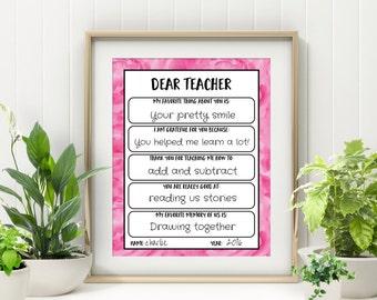 End of Year Teacher Gift - Teacher Gift Printable - Teacher Appreciation Gift - Gift for Teacher Print - End of School Year Teacher Gift