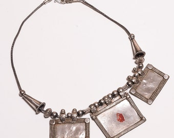 Old Oxidized Silver Necklace (ABHF)