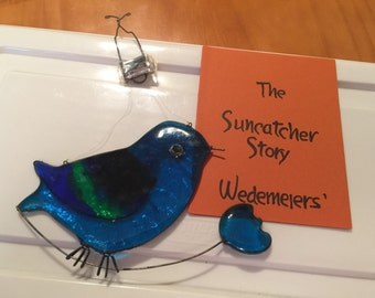 Blues Bird Wedemeiers' Suncatchers antique suncatcher