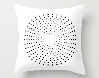 Decorative Pillow Cover, abstract pillow cover black, cushion cover abstract, black and white Cushion cover, Decorative Pillow