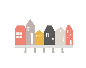 """Wall sticker kids """"Lille Hus"""": Suitable for IKEA wardrobe and all shelves with 60 cm (1W-DR03-01)"""