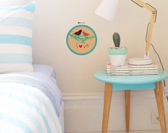 Alternative Wall Art Embroidery Hoop Decoration