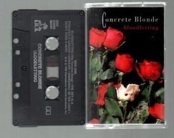 Vintage Cassette Tape : Cassette Tape - Concrete Blonde - Bloodletting CBS CIRSC-82037