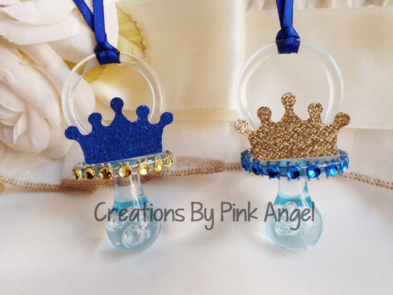 baby shower pacifier favors prince pacifier favors royal prince baby
