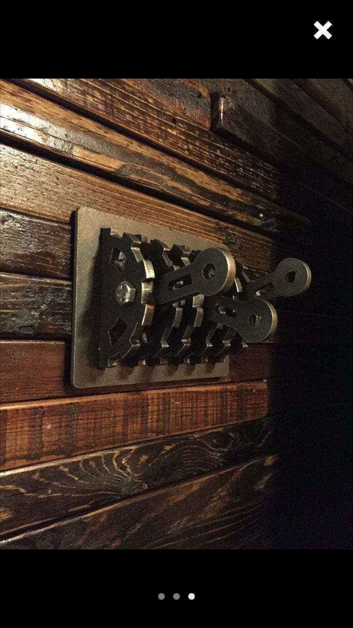 steampunk triple light switch cover w center cutouts u0026 levers gear rustic industrial lighting steampunk lighting unique lighting