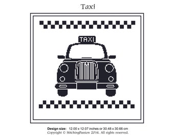 Taxi - Instant download cross stitching chart