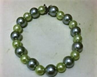 Blue & Green Beaded Bracelet