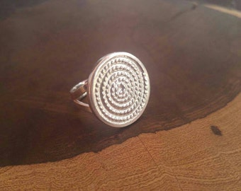 Spiral, Sterling Silver, Ring, Quality, Size 8, Handmade, Fun, Comfortable, Twist Design