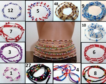 African Waist beads, Body jewelry, Belly bead, Waist chain,Belly chain, Waist chain,  Ghana beads, Sexsi, Traditional, ethnic jewelry.
