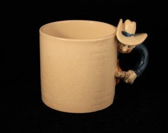Cowboy Mug Vintage Fitz and Floyd Good Guy Bad Guy Mug, Child's Mug, Western, Old West, Gift, Guns