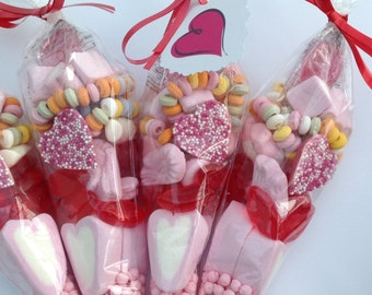 Filled Candy Sweet Cones, perfect for Hen Nights/Valentines