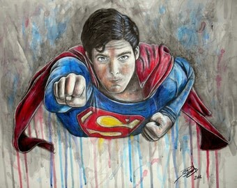 Superman 10'' x12'' Artwork Print