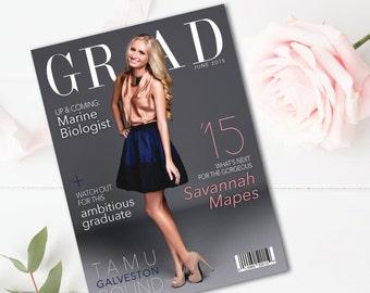 Custom Magazine Cover Graduation Announcement