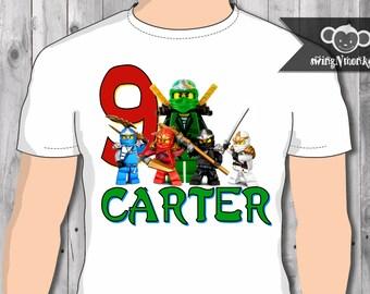 Ninjago birthday Tshirt Shirt