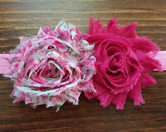 Pink Rosebud Floral Headband
