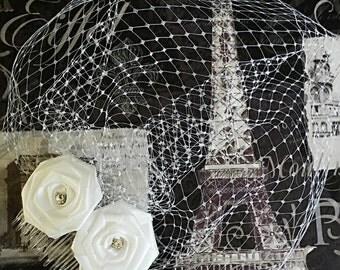 Bridal Birdcage. Birdcage Veil.