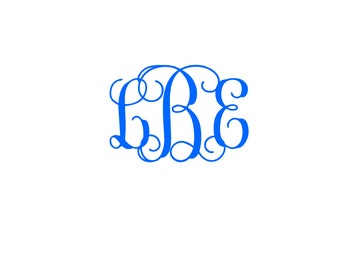 Vine Monogram Solid Color