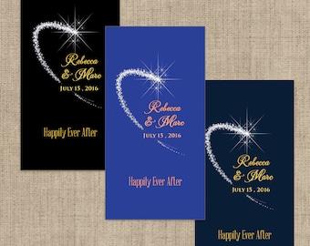 Personalized Shooting Star Hershey's Miniatures Chocolate Wrappers - Wedding Decor - Wedding Mini Wrappers - Miniature Hershey Wrapper