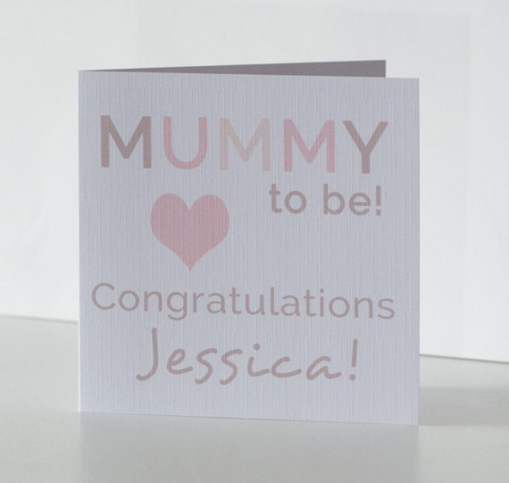 Personalised Baby Shower Card. Congratulations Mummy To Be