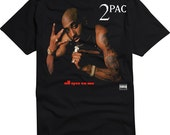 2pac Tupac All eyez on me Black T-Shirt Deathrow Double CD