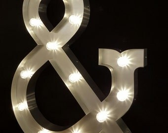 Marquee light up letter 4ft Ampersand
