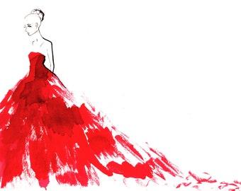 Giambattista Valli Spring Couture 2016 01 Fine Art Print