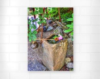 Japanese Garden - Photo Print - Scenic Wall Art - Landscape Photograph - Nature Photo Print - Flower Photography - Zen Artwork - Home Decor