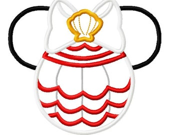 Character Baby Mouse Princess Mermaid Melody Embroidery Applique Design