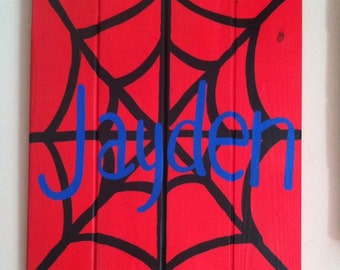 Spiderman personalized room decor