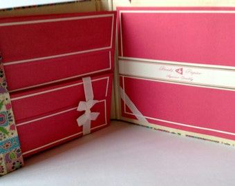 Vintage Bentz Papier Pink Stationery Set Writing Paper and Envelopes in Case