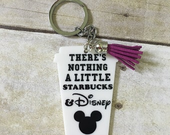 Starbucks and Disney Keychain/key chain/Custom Options available