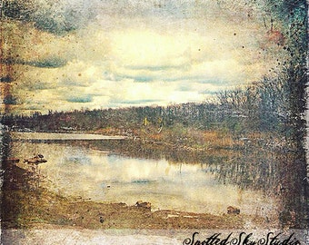 Fine Art Grunge Abstract Landscape Canvas Print
