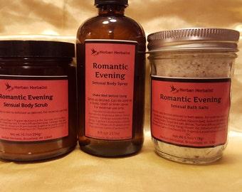 Romantic Evening Body Scrub, exfoliating body scrub, moisturizing body scrub, all natural body scrub, handmade body scrub