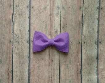 Purple felt clip in bow