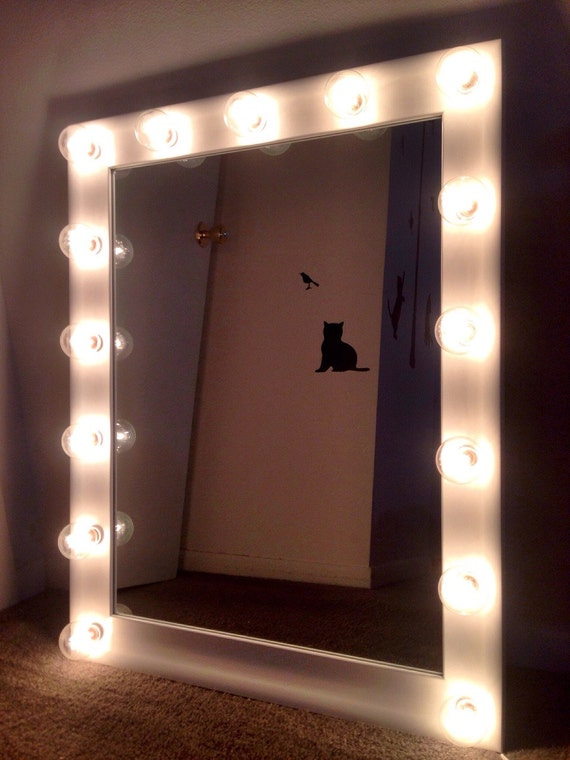 NEW White Make Up Vanity Mirror With Bulbs By ColorfulVanityMirror
