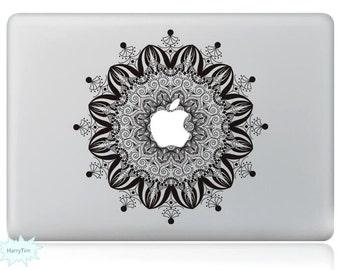 Blooming Flower Decal Mac Stickers Macbook Decals Macbook Stickers Apple Decal Mac Decal Stickers Laptop Decal