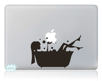 Bathing Girl Decals Mac Stickers Macbook Decal Macbook Stickers Apple Decal Mac Decal Stickers Laptop Decal