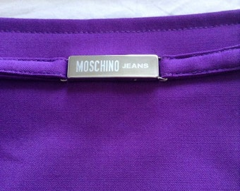 Vintage Deep Purple Moschino Jeans Skirt
