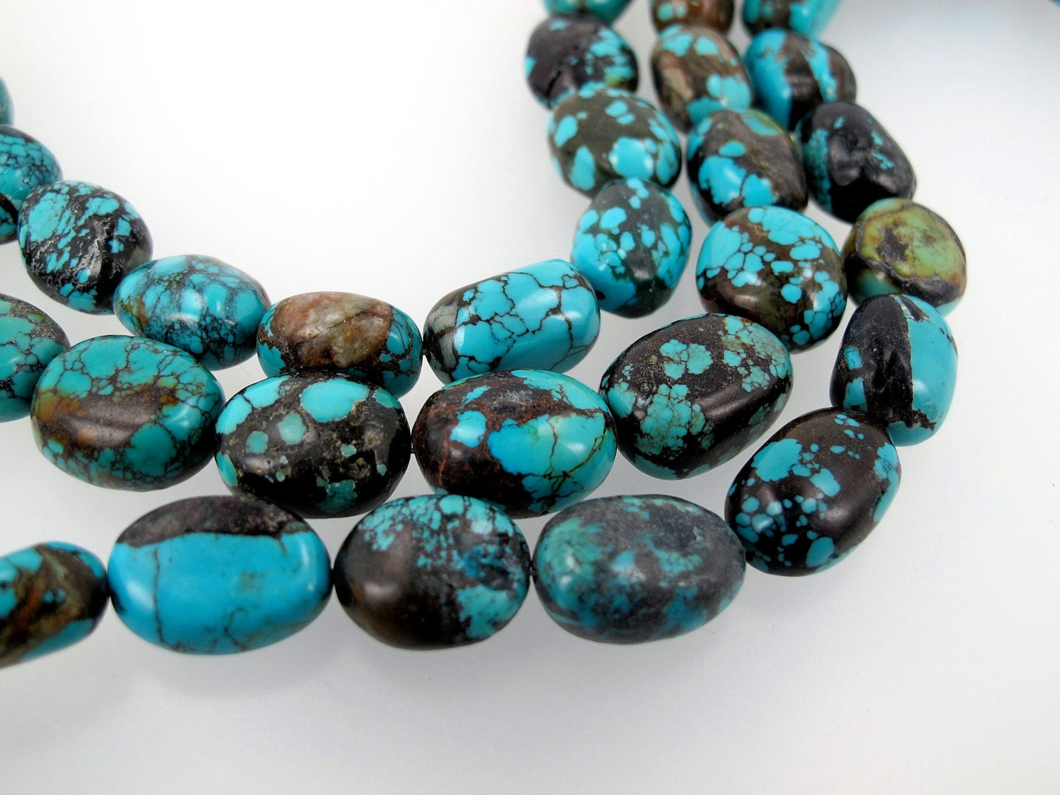 blue turquoise nuggets gemstone by susiesgem