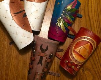 Leather custom bracers.