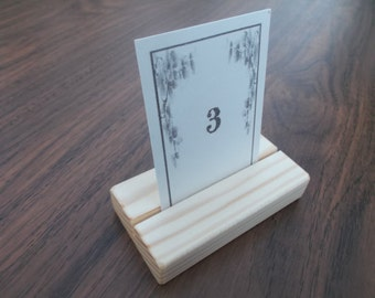 15 Wood Place Card Holders, Rustic Wood Table Number Holders, Menu Holders, Wedding Place Card Holders, Wooden holders, Cafe, Card Holders