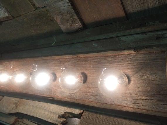 5 bulb barn wood vanity light bar